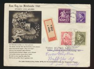 Besetzung Böhmen & Mähren R Brief ab Iglau n. Köln + nachgesandt
