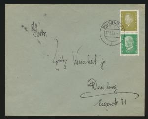 Reich Zusammendruck Brief Präsidenten S 44 Duisburg 27.8.1933
