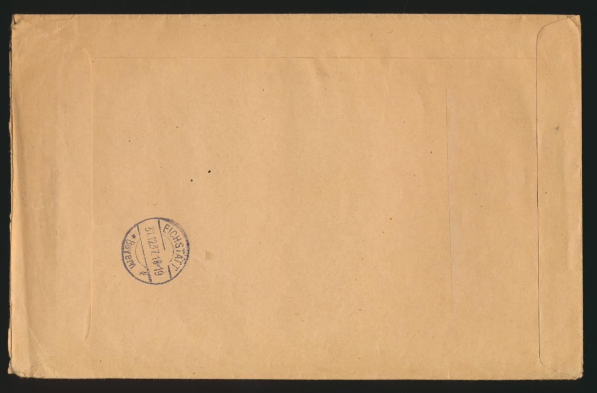 D. Reich Nachnahme Brief Zusammendruck 4 verschied. Hindenburg Braunschweig 1