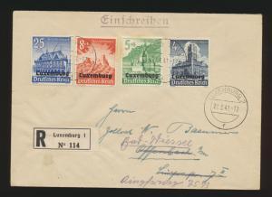 Besetzung 2. Weltkrieg Luxemburg R Brief WHW Offenbach + nach gesendet 21.3.1941
