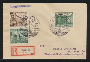 Deutsches Reich R Brief Briefmarkenausstellung 743 Berlin nach Wien Österreich