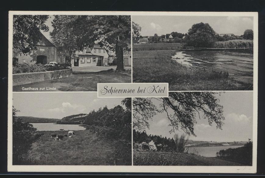 Ansichtskarte Schierensee Flintbek bei Kiel Gasthaus zur Linde nach Berlin mit  0