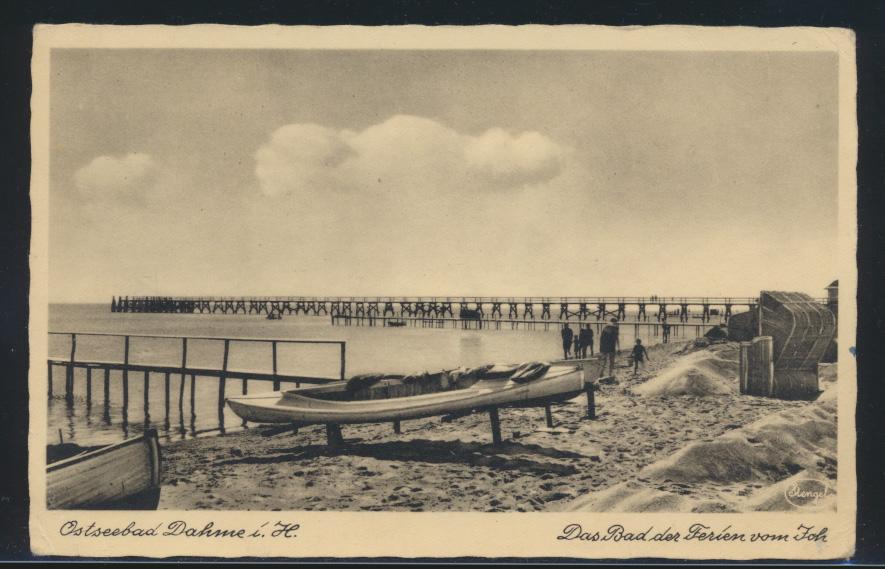 Ansichtskarte Dahme von Scharbeutz nach Dänschendorf auf Fehmarn Boote Schiff 0