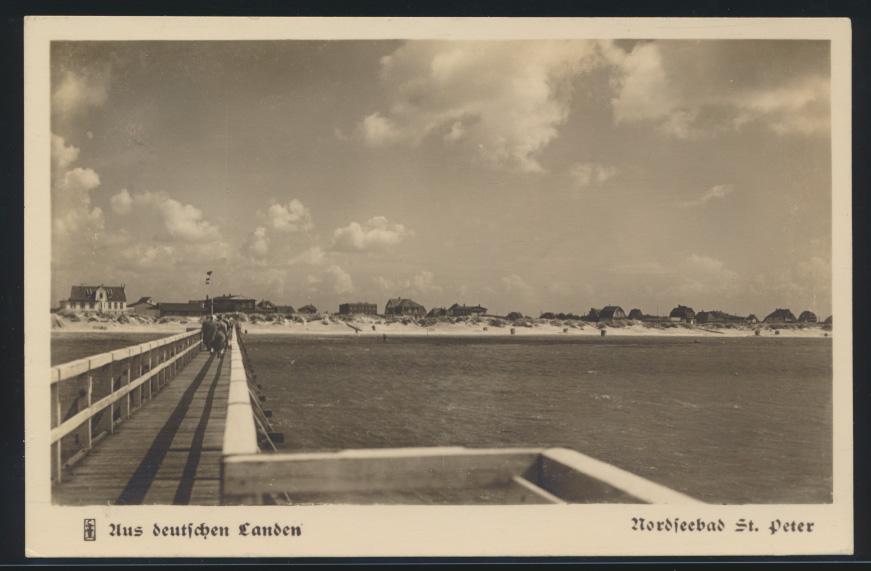 Ansichtskarte St. Peter Nordsee nach Lorsbach Taunus Aus deutschen Landen 0