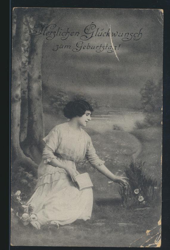 Geburtstag Ansichtskarte von Sanct Margarethen nach Bockholt bei Elmshorn 1925 0