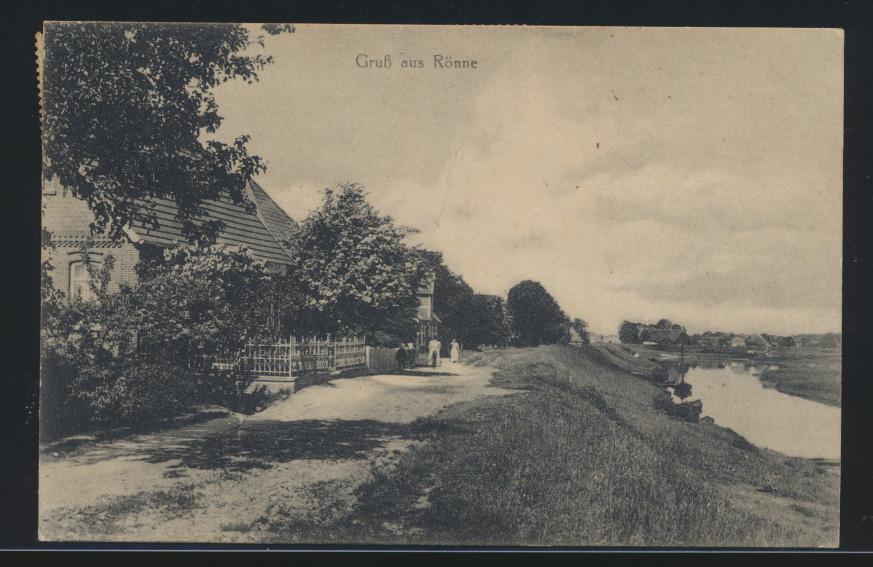 Ansichtskarte Gruß aus Rönne nach Kiel Infla MEF 100 Mark 0