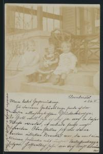 Foto Ansichtskarte Kleinborstel nach Ratzeburg selten 1904