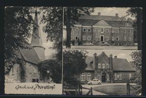 Foto Ansichtskarte Pronstorf Kolonialwaren Radeck mit viol. R1 Berlin Haselhorst