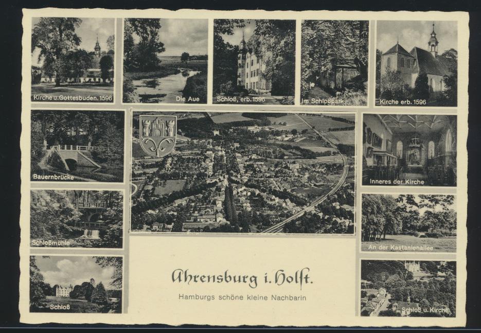 Ansichtskarte Ahrensburg Holstein 12-fach Ansicht  0