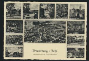 Ansichtskarte Ahrensburg Holstein 12-fach Ansicht