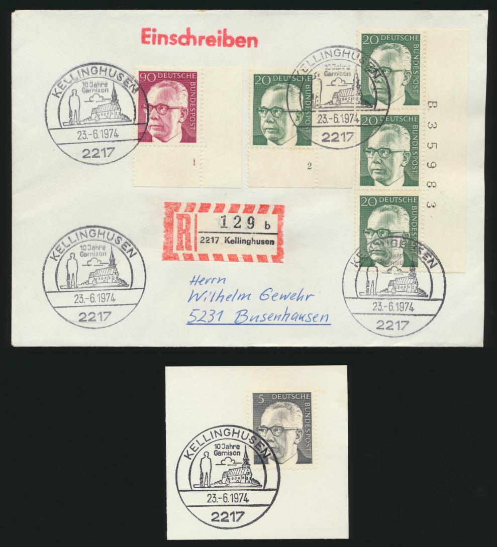 Bund R Brief MIF Heinemann Bogenecken Eckrand Formnummern Bogenzähler Kelling - 0