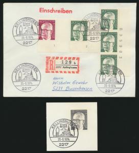 Bund R Brief MIF Heinemann Bogenecken Eckrand Formnummern Bogenzähler Kelling -
