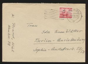 Bund Brief EF 152 Helgoland K2 Kiel nach Berlin Charlottenburg 11.3.1953
