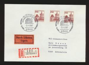 Bund Einschreiben Eilboten Brief MEF 998 Burgen & Sch. SST Altenholz Hohenstein