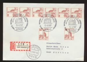 Bund R Brief MEF 1139 Burgen & Sch.+6er Streifen Rolle SST Altenholz Fürthen