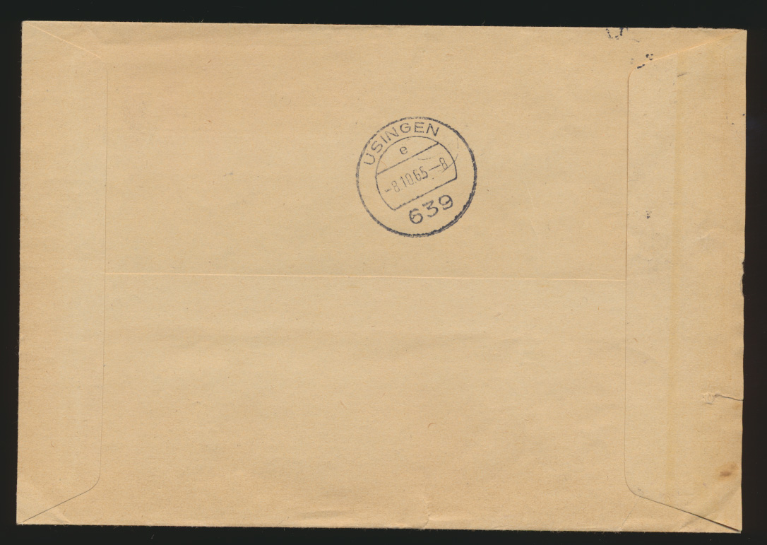 Bund Eilboten Express Brief EF 1 DM Bedeutende Deutsche 381 Ahrensburg Usingen  1