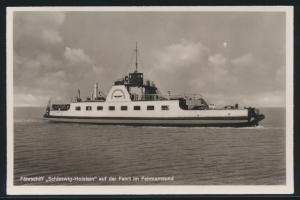 Ansichtskarte Schiffspost Fährschiff Schleswig Holstein Großenbrode Fehmarnsund