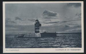 Ansichtskarte Kiel Friedrichsort Leuchtturm an der Hafeneinfahrt