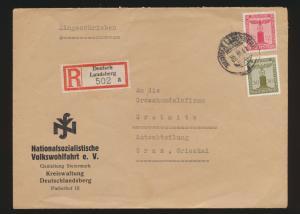 Österreich R Brief Deutschlandsberg frank D Reich Dienst Nationalsozialistische
