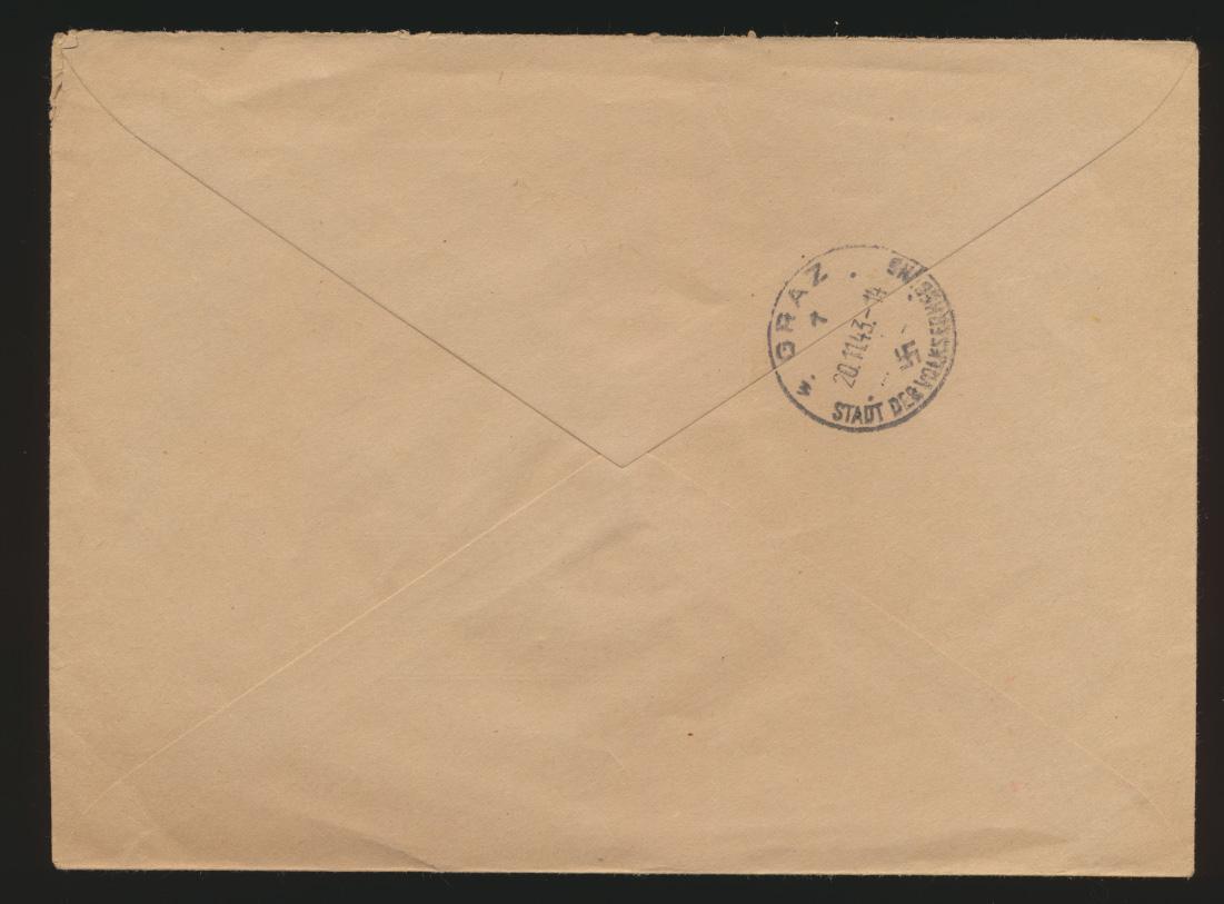 Österreich R Brief Deutschlandsberg frank D Reich Dienst Nationalsozialistische  1