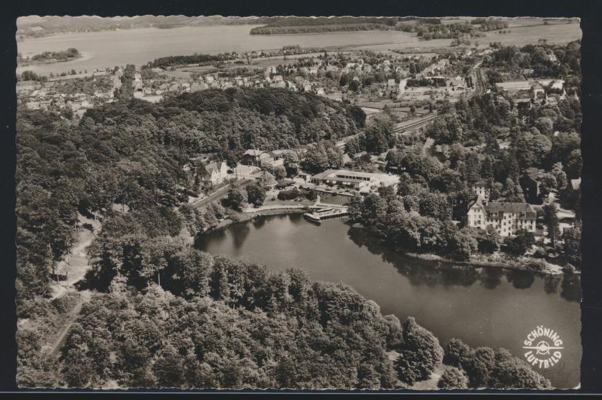 Bund Ansichtskarte EF Heuss Landpoststempel Rosenfelder Strand über Oldenburg 1