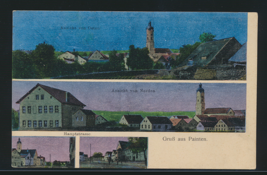 Ansichtskarte Painten Hauptstraße Ansicht v. Osten Norden Verlag Christoph Liebl 0
