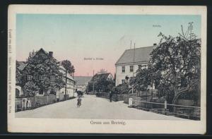 Ansichtskarte Bretnig Gasthof Zur Klinke Schule Verlag Th. Horn Sachsen