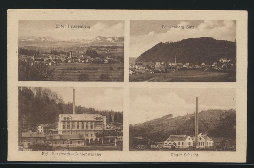 Ansichtskarte Bergbau Bergwerk Peissenberg Sulz Bayern Verlag A. Zerle München 0