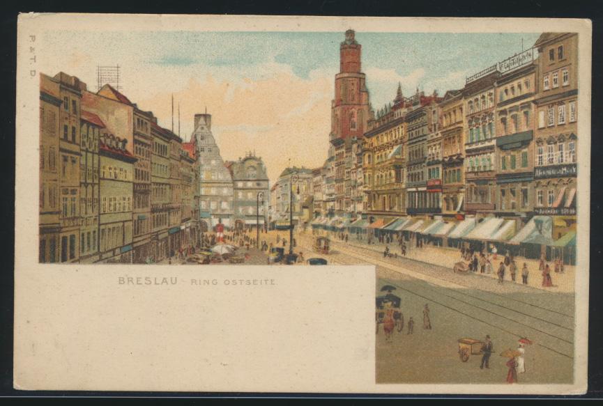 Ansichtskarte Breslau Schlesien Litho Ring Ostseite  0