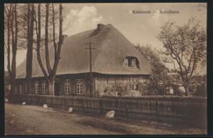 Ansichtskarte Kalkhorst Mecklenburg Schulhaus nach Hamburg 5.9.1928