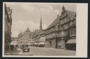 Ansichtskarte Hameln Osterstraße mit Museum und Hochzueitshaus Auto