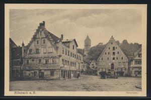 Ansichskarte Biberach Rhein Holzmarkt Verlag A. Weber & Co. Stuttgart Baden