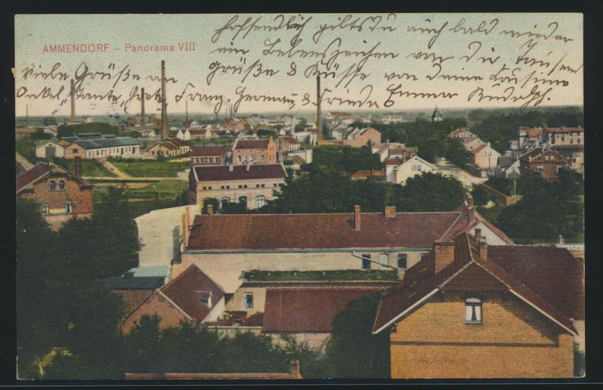 Ansichskarte Ammendorf Panorama VIII nach Berlin Wilmersdorf 0