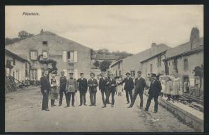 Frankreich France Besetzung Ansichtskarte Plesnois Wirtschaft Constant Arnould