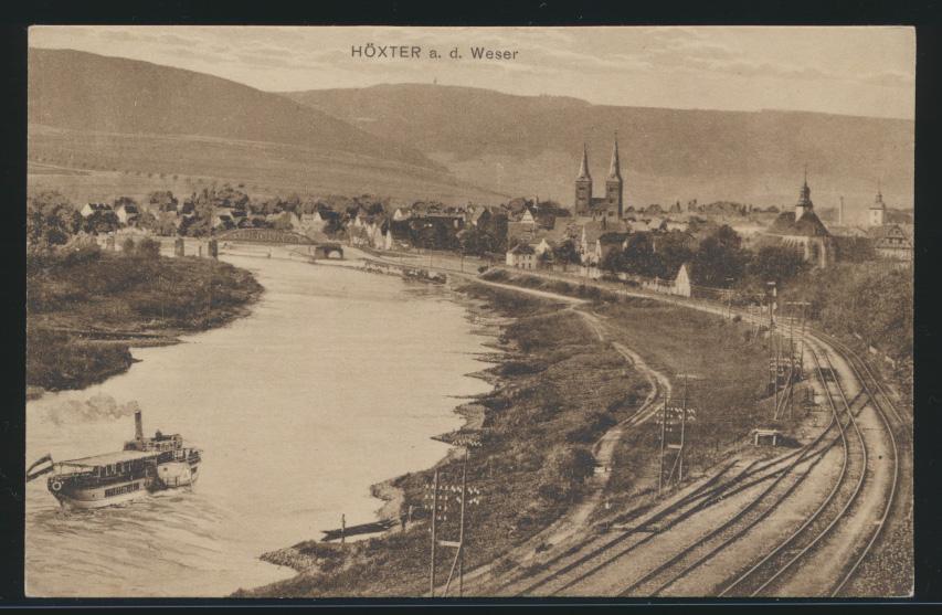 Ansichtskarte Höxter Weser Nordrhein-Westfalen ungelaufen 0