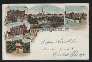 Ansichtskarte Oldesloe Litho Post Verlag Erasmus Jürgens 1897 n. Hamburg Elsbeck