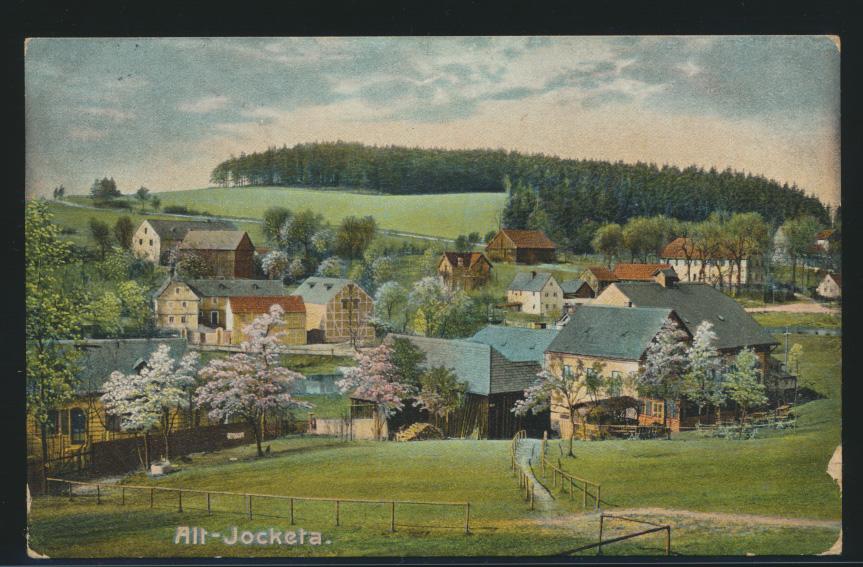 Ansichtskarte Alt Jocketa Gemeinde Pöhl ab Werdau nach Berlin 1911 0