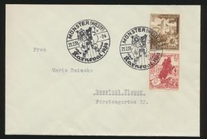 D. Reich Zusammendruck WHW S 251 mit 2x tollen SST Münster Karneval 21.2.1939
