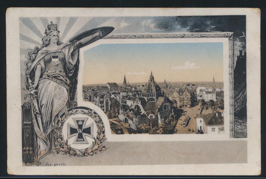 Ansichtskarte Dortmund Kriegspostkarte 1914 Feldpost 1915 0