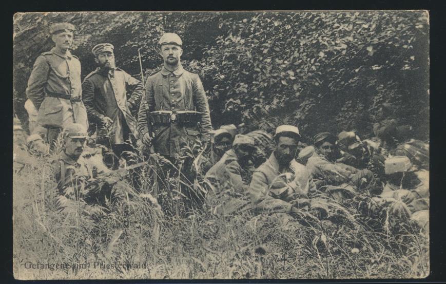 Frankreich France Ansichtskarte Gefangene Priesterwald Feldpost Feldpoststation 0