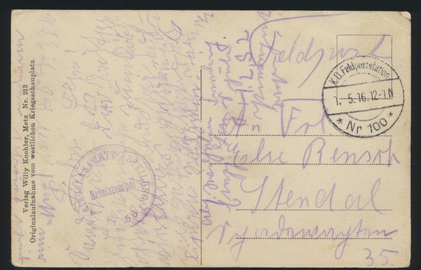Frankreich France Ansichtskarte Gefangene Priesterwald Feldpost Feldpoststation 1