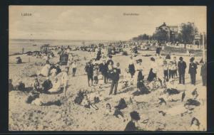 Ansichtskarte Laboe Schleswig Holstein Strandleben ab Kiel nach Hagen