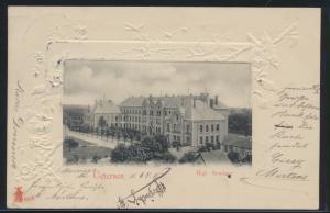Ansichtskarte Uetersen Königliches Seminar Jugendstil Prägekarte n. Norderney