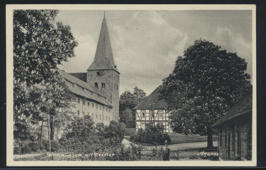 Ansichtskarte Wennigsen Deister nach Harburg Kirche 7.4.1934 0