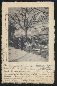 Ansichtskarte Genf Schweiz Markt nach Hamburg 1.1.1904