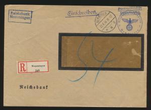 Deutsches Reich R Brief portopflichtige Dienstsache mit Nachgebühr ab Menningen