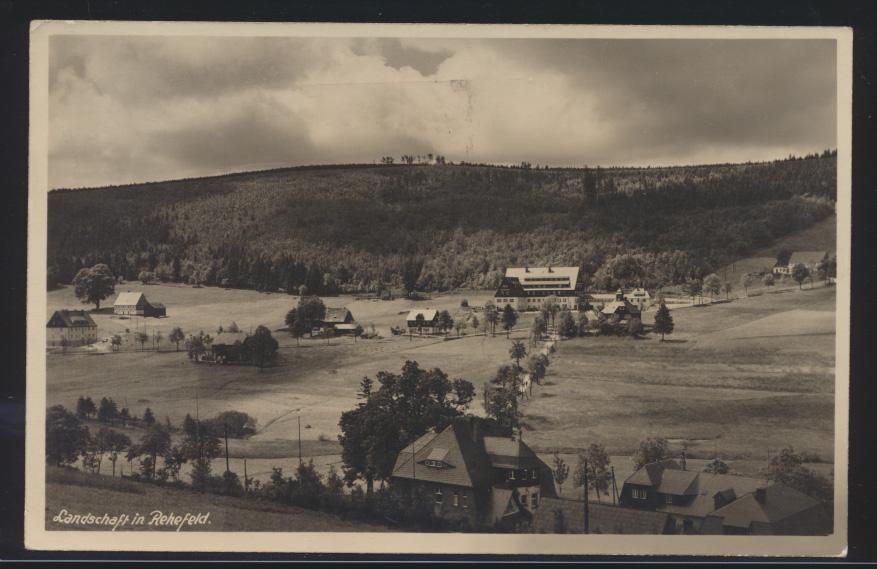 Ansichtskarte Rehefeld ab DRESDEN A 2 Stempel Sachsen weiße Flotte Schlachtensee 0