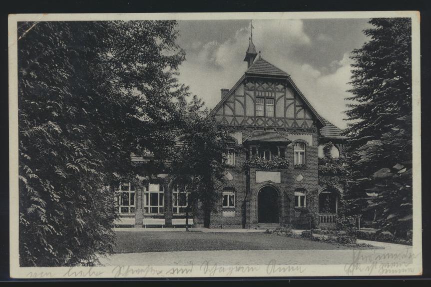 Ansichtskarte Belzig Parkhaus SST 1000 jährige Kreisstadt nach Berlin 22.1.1939 0