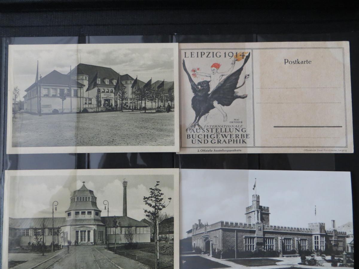 Ansichtskarten Sammlung Leipzig Weltausstellung Buch & Grafik 54 Stück  in Top - 10