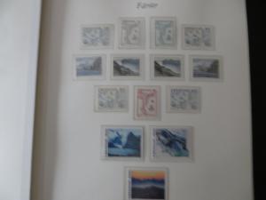 Färoer Luxus Sammlung 1975-1997 komlett posstfrisch auf Vordrucken Kat. 540,00